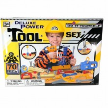 Deluxe Power Tool Set 70 pcs Do It Yourself DIY Repair Toys Gift Section B