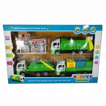 Sanitation Truck Toys Play Set B Recycle Truck Gas Service Station Gift