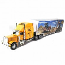 Super Container Truck 14 inch Yellow Color Model Metal Plastic Parts Collection