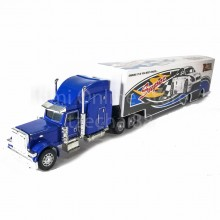 Super Container Truck 14 inch Blue Color Model Metal Plastic Parts Collection