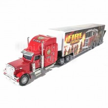 Super Container Truck 14 inch Red Color Model Metal Plastic Parts Collection
