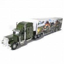 Super Container Truck 14 inch Green Color Model Metal Plastic Parts Collection