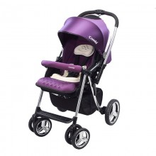 Combi Baby Stroller Mega Ride Deluxe Purple Ultra Absorbent Egg Shock Material
