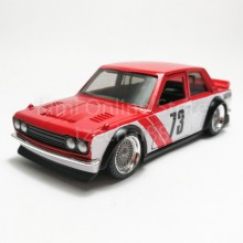 Jada 1:32 JDM Tuners Die-Cast 1973 Datsun 510 Widebody Car Red Model Collection