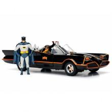 Jada 1:24 Die-Cast Batmobile Batman & Robin Figures Classic TV Series Model Collection