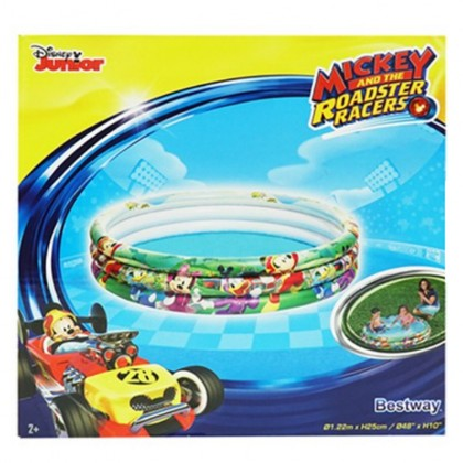 Bestway 91007 Kids 1.22m x H25cm Mickey And The Roadster Racers Inflatable Pool New