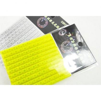 12 Pcs Luminous Strip Reflector Stick Mtb Bicycle Road Mountain Safe