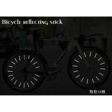 12 Pcs Luminous Strip Reflector Stick Mtb Bicycle Road Mountain Safe