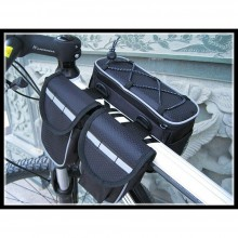 4 In 1 Front Frame Cycling Bag Pouch Holder Universal Bicycle