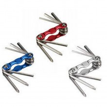 6 in 1 Hex Key Allen Wrench Metric Key Chain plus Minus