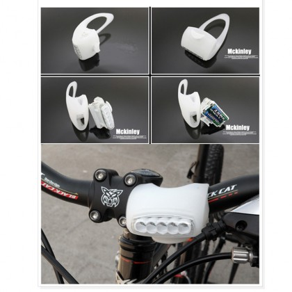 7 LED Silicone Bicycle Alert Big Tail Light Rear Lamp Rear Front Back