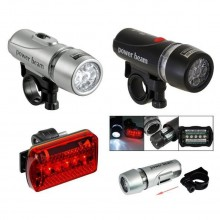 Power Beam Set Bicycle LED Super Bright Head Torch Light Lamp Accessories