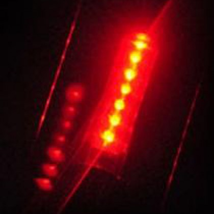 7 Wording LED Hot Wheels Bicycle Alert Light Rear Lamp Safety Bike MTB
