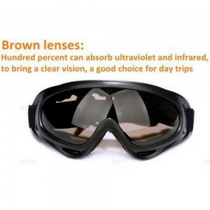 Windproof Sunglasses UVA Protect Polycarbonate Anti Glare Wrap Around
