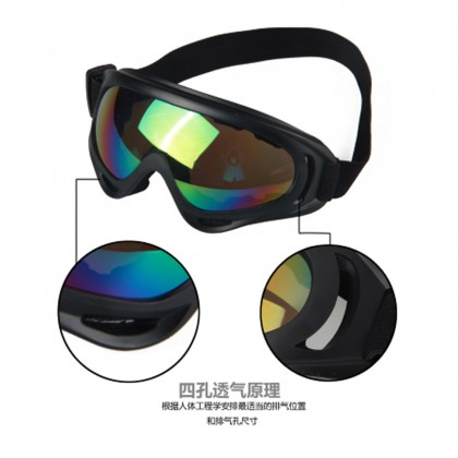 Windproof Sunglasses UVA Protect Polycarbonate Anti Glare Wrap Around