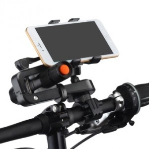 Bicycle 360 Degree Rotate Mobile Phone Torch Flashlight Stand Holder Accessories Bracket Navigation Adjustable Easy Assemble