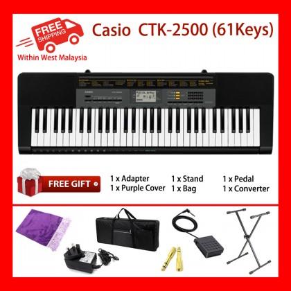 61 Keys Casio CTK-2500 Digital Electronic Standard Keyboards Organ 400 Tones New