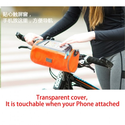 Safebet Waterproof Bicycle Pouch Portable Bicycle Front Handlebar Bag with Transparent Screen Window