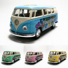 Kinsmart 1:32 Die-cast 1962 Volkswagen Classical T1 Bus Model with Box
