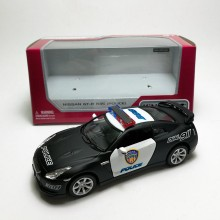 Kinsmart 1:36 Die-cast Nissan GT-R R35 Police Version Car Model with Box