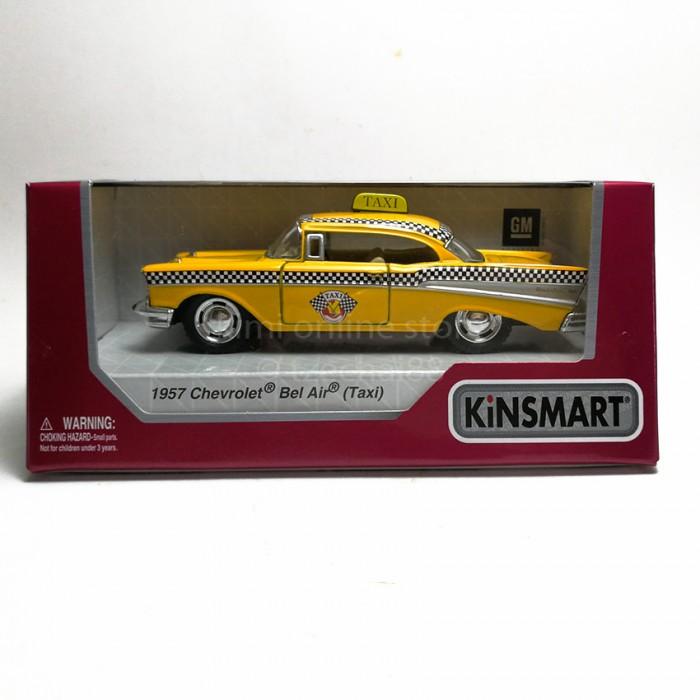 Kinsmart 140 Die Cast 1957 Chevrolet Bel Air Taxi Version Car Model