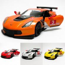 Kinsmart 1:36 Die-cast 2016 Corvette C7.R Race Car Model with Box Collection