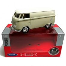Welly 1:34-1:39 Die-cast 1963 Volkswagen T1 Bus Milk White Model with Box Collection