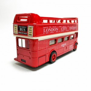 Welly 4.75 inch Die-cast AEC Routemaster Open Top London Bus Red Model with Box Collection