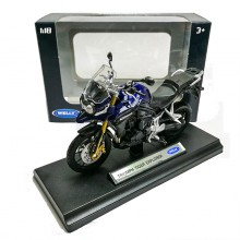 Welly 1:18 Die-cast Triumph Tiger Explorer Motorcycle Blue Model with Box Collection