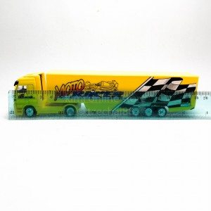 Welly 1:87 Die-cast Mercedes-Benz Actros Container Truck Yellow Model with Box Collection