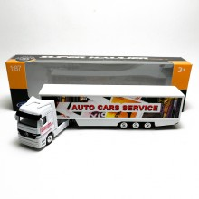 Welly 1:87 Die-cast Mercedes-Benz Actros Container Truck White Model with Box Collection