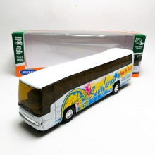 Welly 1:60 Die-cast Super Coach Express Bus White Model with Box Collection