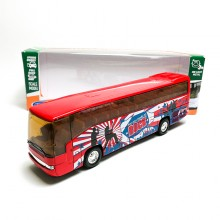 Welly 1:60 Die-cast Super Coach Express Bus Red Model with Box Collection