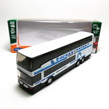 Welly 1:64 Die-cast Mercedes-Benz MB 0 404 DD Super Coach Express Bus White Model with Box Collection