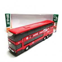 Welly 1:64 Die-cast Mercedes-Benz MB 0 404 DD Super Coach Express Bus Red Model with Box Collection