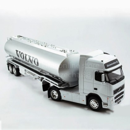 Welly 1:32 Die-cast Volvo FH12 Oil Tanker Truck Silver Model with Box Collection