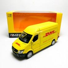 RMZ City 1:36 Die-cast Mercedes-Benz Sprinter DHL Vesion Van Yellow Model with Box