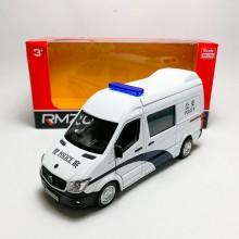 RMZ City 1:36 Die-cast Mercedes-Benz Sprinter Police Vesion Van White Model with Box
