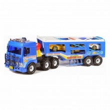 Daesung Heavy Duty Plastic Motor Toy carrier Truck with 2 mini-car King Super Transport