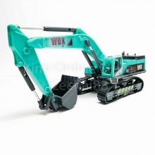Hydraulic Excavator 1:50 Die-cast Green Model with Box Collection New Gift