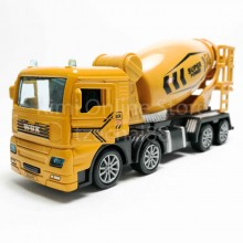 Concrete Mixer Truck 1:50 Die-cast Yellow Model with Box Collection New Gift