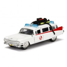 Jada 1:32 Die-Cast Hollywood Rides ECTO-1 Ghostbusters Car White  Model Collection