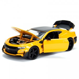 Jada 1:24 Die-Cast 2016 Chevrolet Camaro Bumblebee with Coin Transformers The Last Knight Model Collection