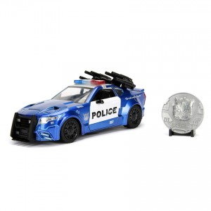 Jada 1:24 Die-Cast Custom Police Barricade with Coin Transformers The Last Knight Model Collection