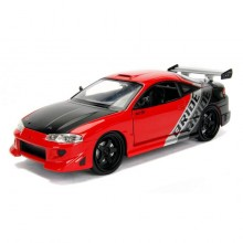 Jada 1:24 JDM Tuners Die-Cast 1995 Mitsubishi Eclipse Car Glossy Red Model Collection