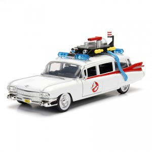 Jada 1:24 Die-Cast Hollywood Rides ECTO-1 Ghostbusters Car White Model Collection
