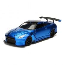 Jada 1:32 Fast & Furious Die-Cast Brian's Nissan GT R (R35) Ben Sopra Car Model Collection