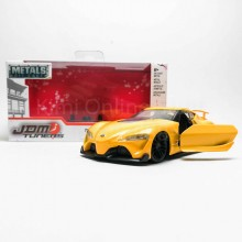 Jada 1:32 JDM Tuners Die-Cast Toyota FT-1 Concept Car Yellow Model Collection