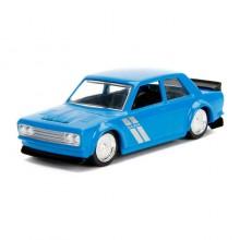 Jada 1:64 JDM Tuners Die-Cast 1973 Datsun 510 Widebody Car Blue Model Collection