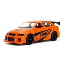 Jada 1:64 JDM Tuners Die-Cast 2002 MItsubishi Lancer Evolution 7 Car Orange Model Collection